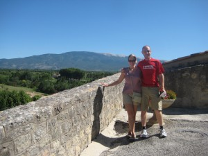 Trish, John and Mt. Ventoux